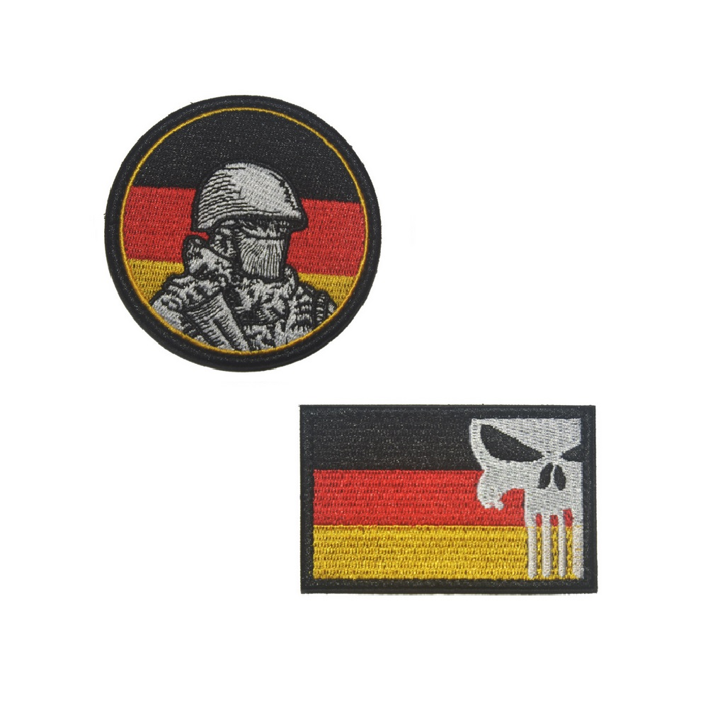 US $2 37 17% OFF|Germany flag Punisher Skull patches German Soldier  military patch molle tactical army biker morale Badge for backpack vest-in  Patches