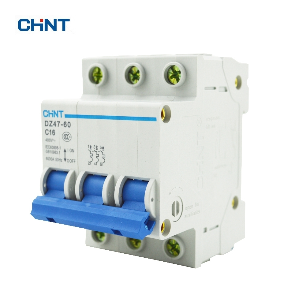 US $10.46 |CHINT DZ47 60 C16 AC230/400V 3P 16A Rated Current 3 Pole on