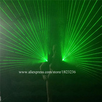 2 Pcs Green Laser Vest Luminous Waistcoat With 6 Pcs 532nm 100mW Green Lasers Stage Party
