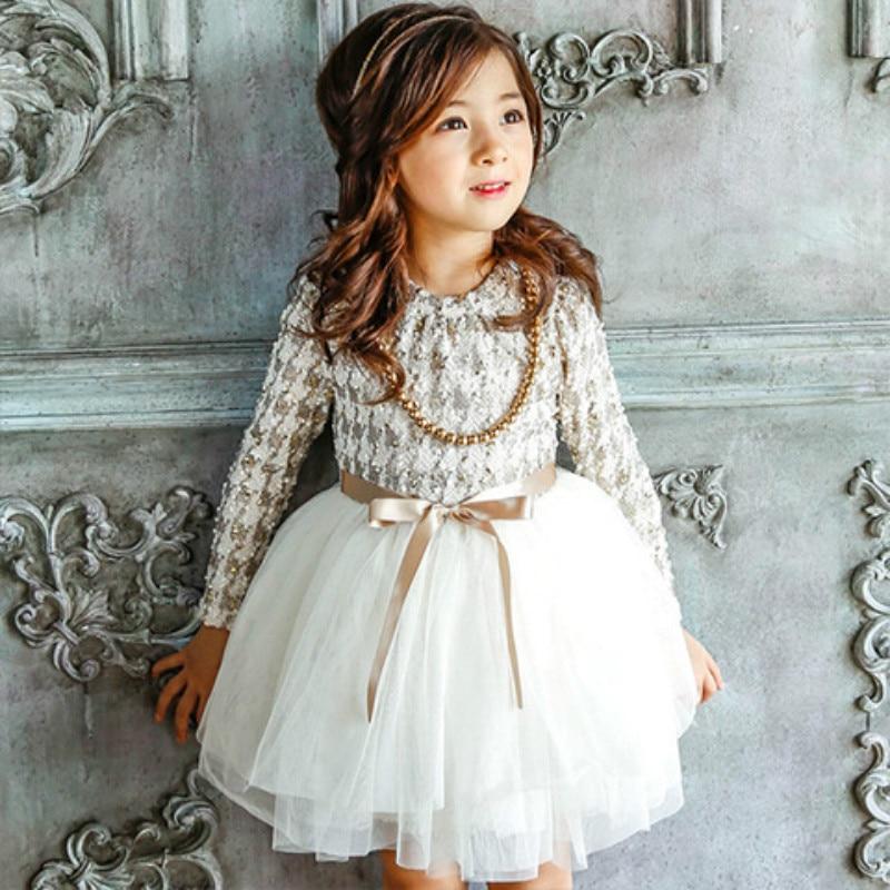2018 de alta calidad niñas Otoño Invierno vestido de pata de gallo vestidos de princesa de las muchachas de los niños ropa Casual niños vestido CE032