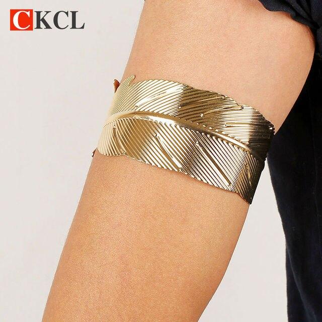 Hot Sale Leaf Arm Cuff BangleBracelet For Women Gold Color Bangles