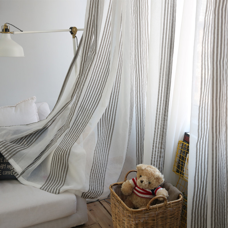 Nordic Style Wind Minimalist Sheer Voile Curtain For Living Room Bedroom Study Room L002D-in Curtains from Home u0026 Garden on Aliexpress.com | Alibaba Group & Nordic Style Wind Minimalist Sheer Voile Curtain For Living Room ...