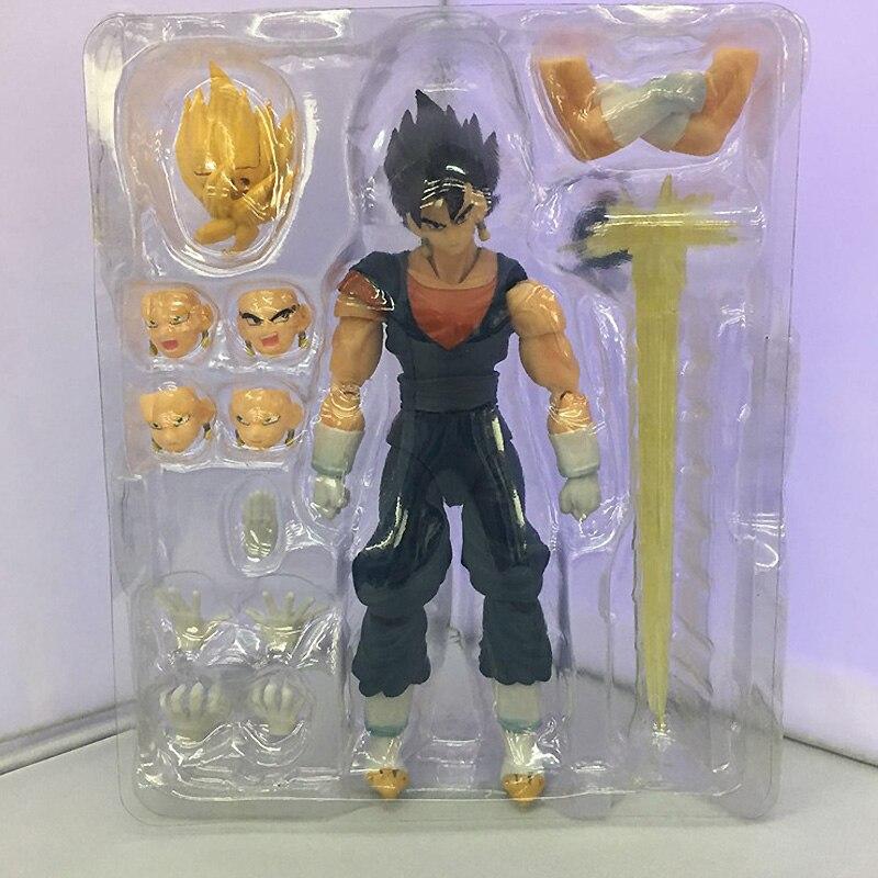 Nova dragonball z dbz anime 17cm son goku vegetto pvc joint figura de ação móvel brinquedo na caixa retal