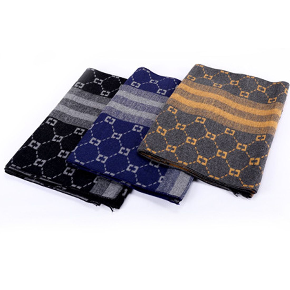 Fashion Design Casual Scarves Winter Men's Cashmere Scarf Luxury Brand High Quality Warm Scarves 2019 Newest For Men And Women