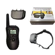 цена на 998D 1 dog remote control dog bark stop collar elecking collar with retail boxtric shock device treatment ring stop dog barking