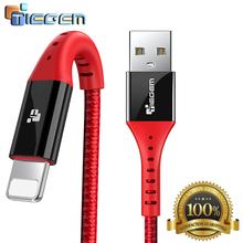 USB Cable for iPhone Tiegem szybkie ładowanie danych przewód ładowarki dla iPhone X 8 7 6 6s s 5 5s SE iPad przewód przewód telefon komórkowy tanie tanio Odwracalne 8 piny -ów Z IPhony Apple 2 5A 480Mbps Cable for iPhone USB Cable Cable for iPhone 8 8 Plus X 6 6s 6 Plus 5 5s 5c