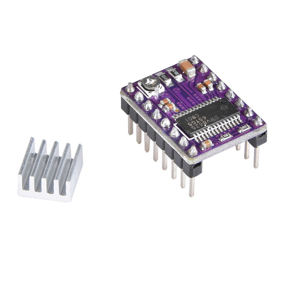 3D 프린터 부품 Stepstick A4988 DRV8825 히트 싱크가있는 스테퍼 모터 드라이버 모듈 Reprap Ramps 1.4/1.5/1.6 제어 보드 MKS