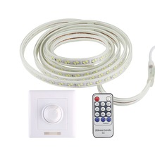 LED Strip 220v Dimmable Light RF Remote Control Waterproof Ribbon Led SMD 5730 120LEDs/M Ledstrip Diode Tape Home Decor Stripe