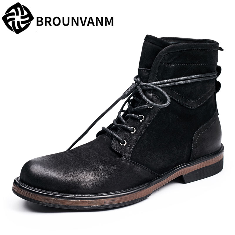 army Martin winter boots 2017 new autumn winter British retro men shoes zipper leather shoes breathable fashion boots men mulinsen newest 2017 autumn winter men