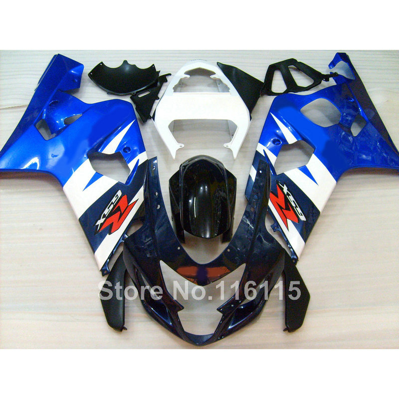 New plastic fairing kit for SUZUKI GSX-R 600/750 K4 2004 2005 GSXR600 GSXR750 04 05 blue white black plastic fairings set LF63