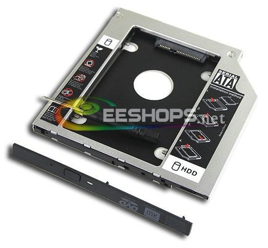 2nd HDD SSD Caddy Second Hard font b Disk b font Drive Enclosure DVD Optical Bay