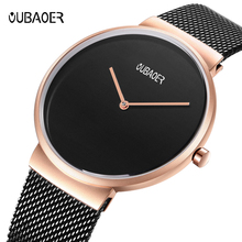 купить OUBAOER Steel Mesh Quartz Waterproof Watches Men Top Luxury Brand Male Sport Watch Men Dress Wrist Watch Clock Relogio Masculino по цене 1171.71 рублей