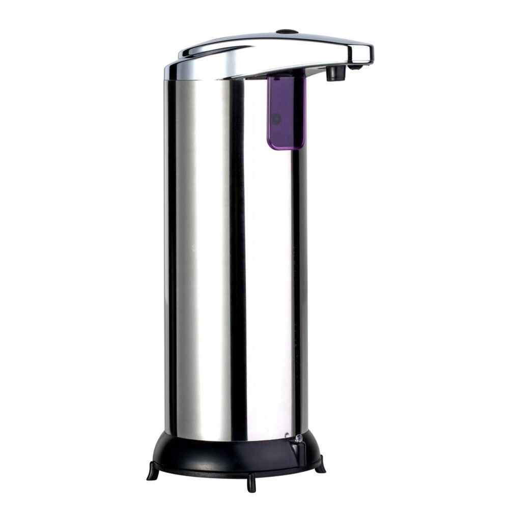 2016 280 ml Automatische Sensor Seifenspender Basis Wand Edelstahl Touch-kostenlose Sanitizer Dispenser Für Küche Bad