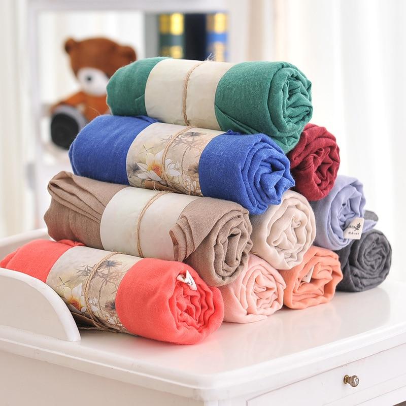 10 kosov / veliko modni navadni navadni perilo bombažni šal šal - Oblačilni dodatki - Fotografija 1