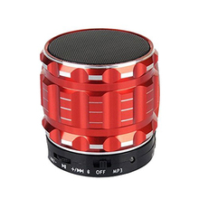 Altavoces portátiles Mini Bluetooth Smart Wireless Speaker Manos Libres Soporte Para Tarjetas SD Para el iphone rojo