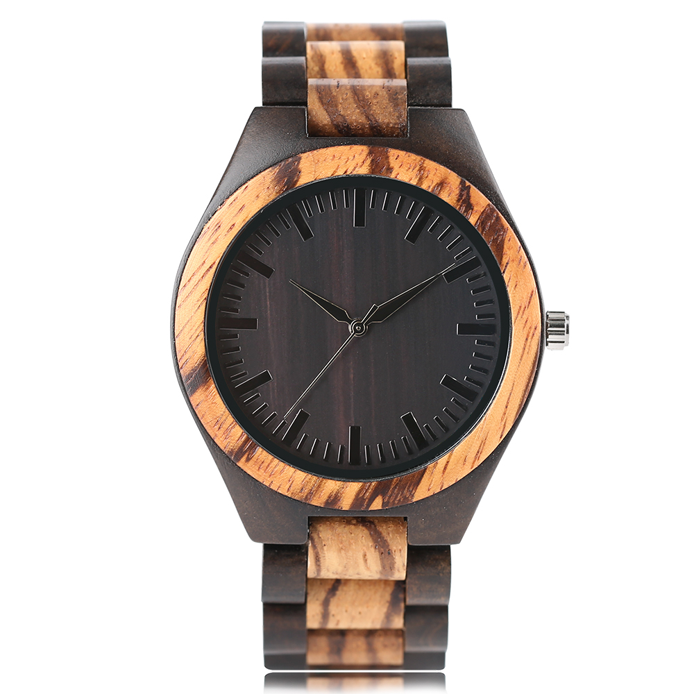 Fold Clasp Creative Cool Quartz Women Wrist Watch Men Nature Wood Gift Bamboo Modern New Arrival Full Wooden Bangle Casual nature wood modern watch men quartz hollow bamboo women wristwatch creative analog bracelet clasp watches 2017 new fashion clock