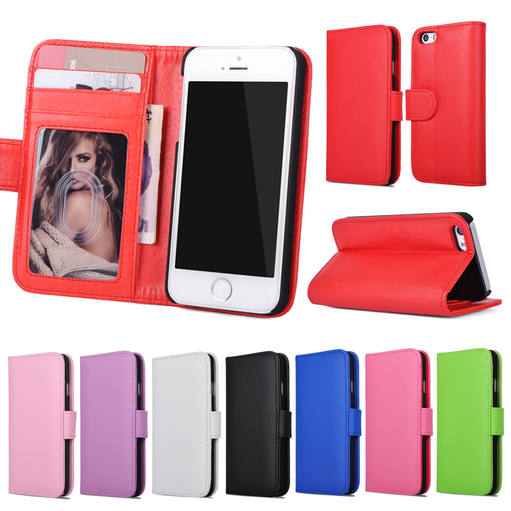 Stand Wallet Leather Case For iPhone 4S PU Phone Cover Card Slot Phone Cases For iPhone 4 5s 6 6s 7 7 Plus For iPhone Case Coque
