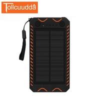 Tollcuudda Solar Cargador de Batería Externo del Banco de la Energía 10000 mAh Brújula Camping luces Poverbank Para Iphone5 6 s XiaoMi Teléfonos