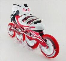 Patins, высокопрочные конькобежный коньков катания стекловолокна роликовых коньках четыре коньки профессиональные