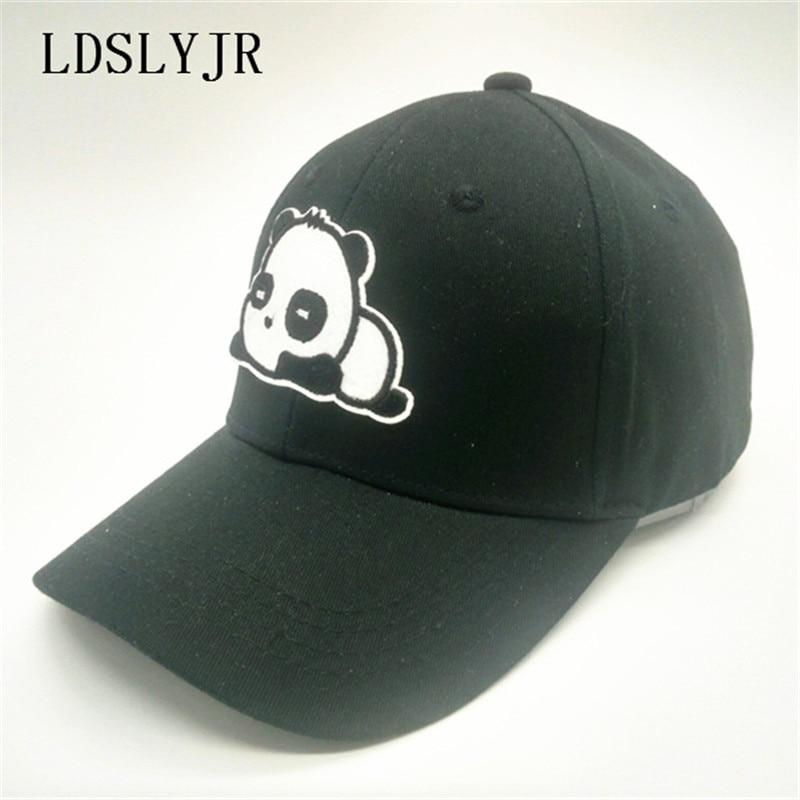 giants baseball panda hat kung fu cap cotton cartoon font adjustable bear