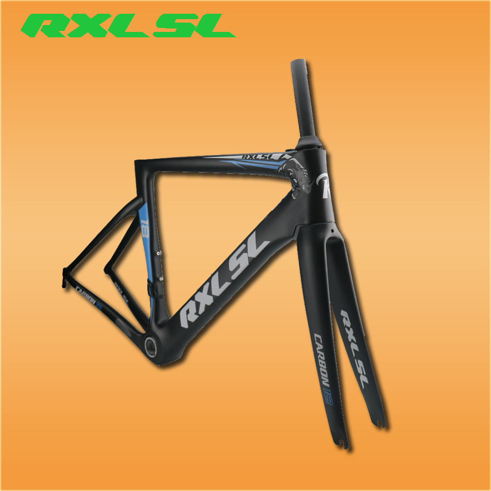 RXL SL Bicycle Carbon Bike Frame UD Matte Road Frame 48/51/54/56cm Breaking Wind Bike Frames Ultra-light Bicycle Frame