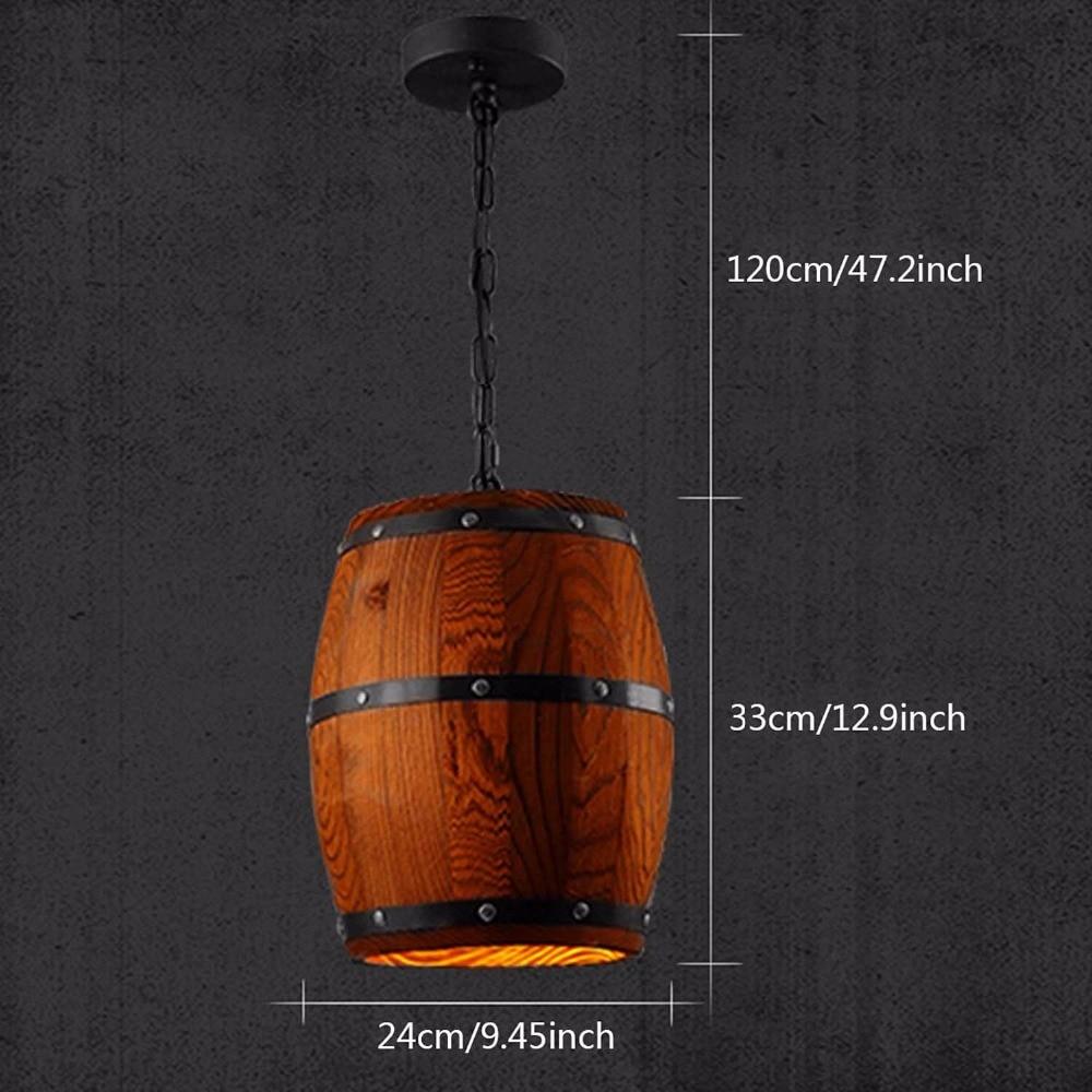Land Holz Barrel Anhänger Lichter Küche Insel Lampe Kreative E27 ...