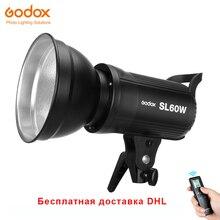 Бесплатная DHL Godox SL-60W светодиодный видео свет 5600 K белая версия видео свет непрерывный свет Bowens крепление для студийной записи видео