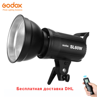 Free DHL Godox SL 60W LED Video Light 5600K White Version Video Light Continuous Light Bowens Mount for Studio Video Recording
