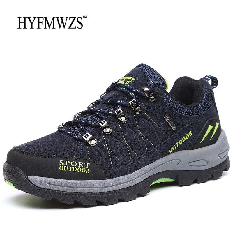 HYFMWZS Krasovki Sapatos Táticos 2018 Nova Mens Botas de Caminhada Ao Ar Livre Respirável Sapatos Masculinos Não-escorregar Tênis Para Caminhada Sapatos Homens da Montanha sapatos