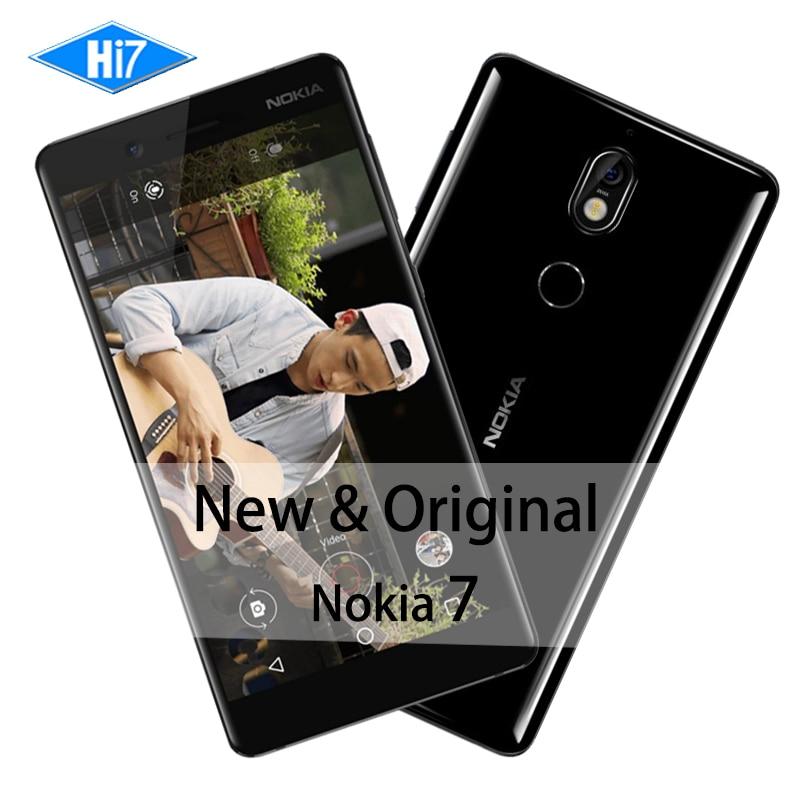 Nouvelle D'origine Nokia 7 4 GB RAM 64 GB ROM 16MP Caméra Double Sim cartes 5.2 pouces Octa base 4G LTE 3000 mAh Android 7.1 Smart Mobile Téléphone