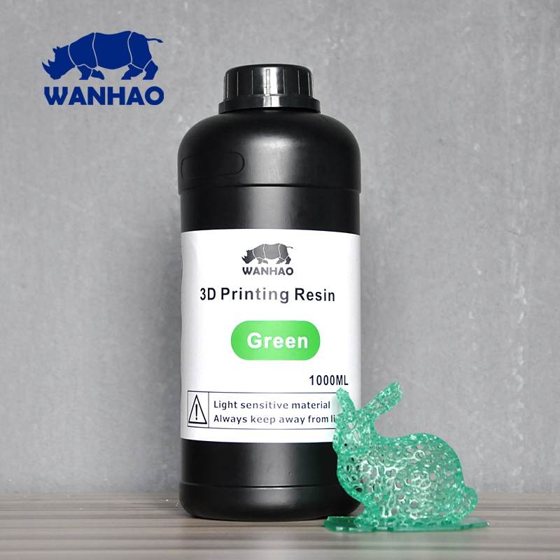 UV 405nm photopolymer resin 1000 ml for Wanhao Duplicator 7 (D7) LCD/SLA 3d printer green uv 405nm photopolymer resin 1000 ml for wanhao duplicator 7 d7 lcd sla 3d printer