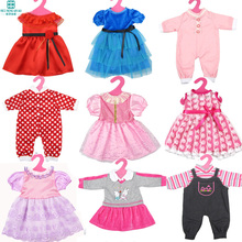 Fashion style Popular clothes for dolls fits american girl Zapf Baby Born Accessories for dolls
