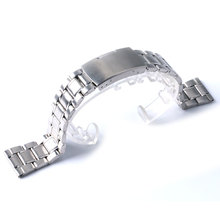 High Quality Watch Band Womens Men 20mm/22mm Buckle Silver Stainless Steel Watch Band Strap Straight End Bracelet