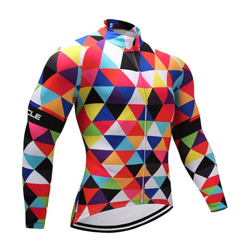Invierno 2018 colores diamantes Ciclismo jersey a prueba de viento MTB Ropa Ciclismo hombres mujeres polar térmico Ciclismo Maillot Ropa de bicicleta
