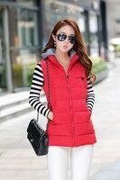 Outono e inverno as mulheres de algodão-acolchoado casaco fino Mulheres-Quente de algodão acolchoado jaqueta de médio-longo Com Capuz amassado jaqueta de 7 cores