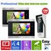 YSECU 7 Inch Video Door Phone Recording HD 1200TVL 1 IR Night Doorbell Camera And 2