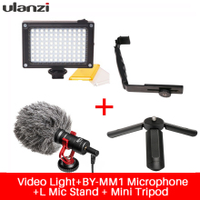 Ulanzi for Smooth Q Phone Video Setup Boya Microphone,LED video light,Stand Bracket for Zhiyun Smooth Q/DJI/Feiyu Gimbal 3-axis