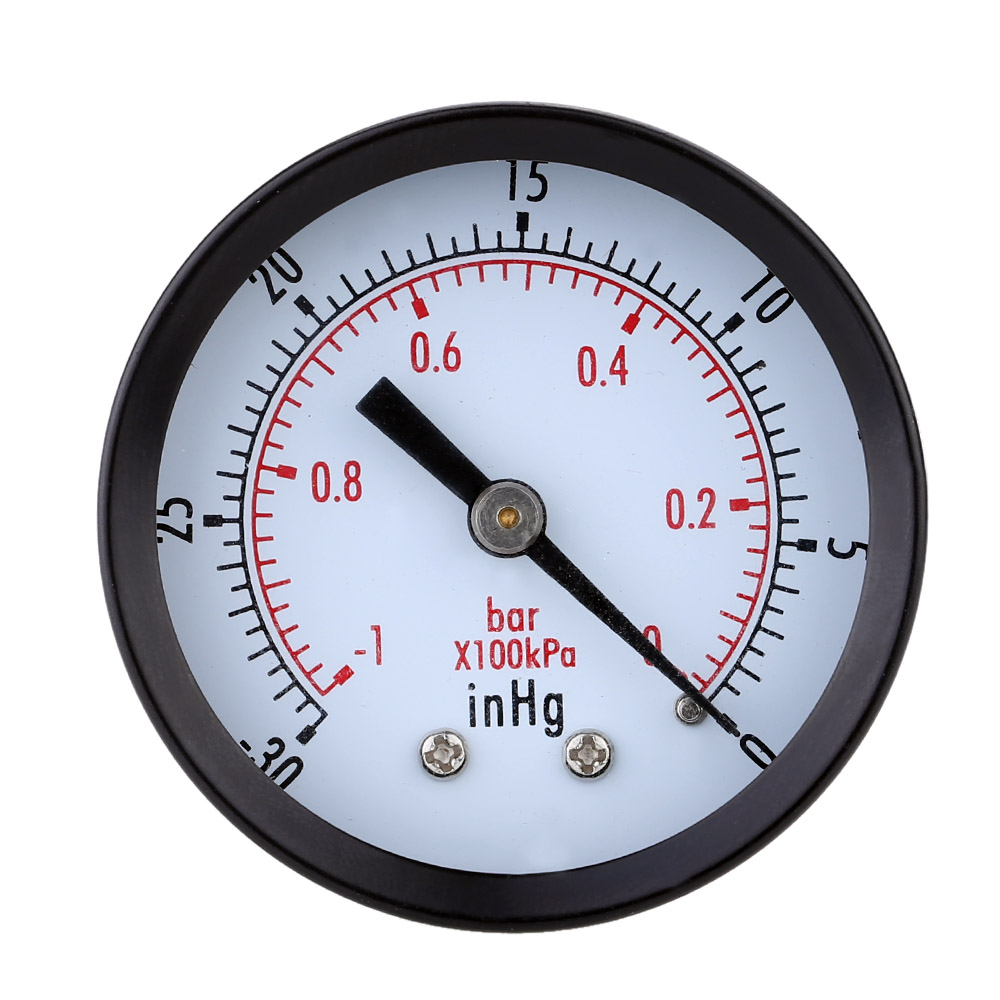 Great Double Scale Vacuum Manometer Mini Dial Air Vacuum Pressure ...