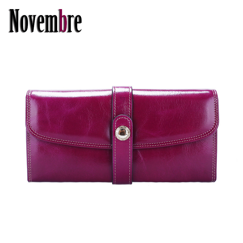 ФОТО 2017 New Fashion Genuine Leather long women's purse women's Wallet Clutch wallets women purses visiting cards Bag button ladies