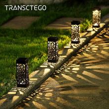 Słoneczna ścieżka ogrodowa światła lampa trawnikowa do ogrodu lampiony dekoracyjne oświetlenie ścieżki zewnętrznej bezprzewodowy wodoodporny nocny led lampa słoneczna tanie tanio TRANSCTEGO Ni-mh 1 2 v ROHS Żarówki led ART DECO Ip44 Brak 1 year solar garden light solar garden lights outdoor decorative