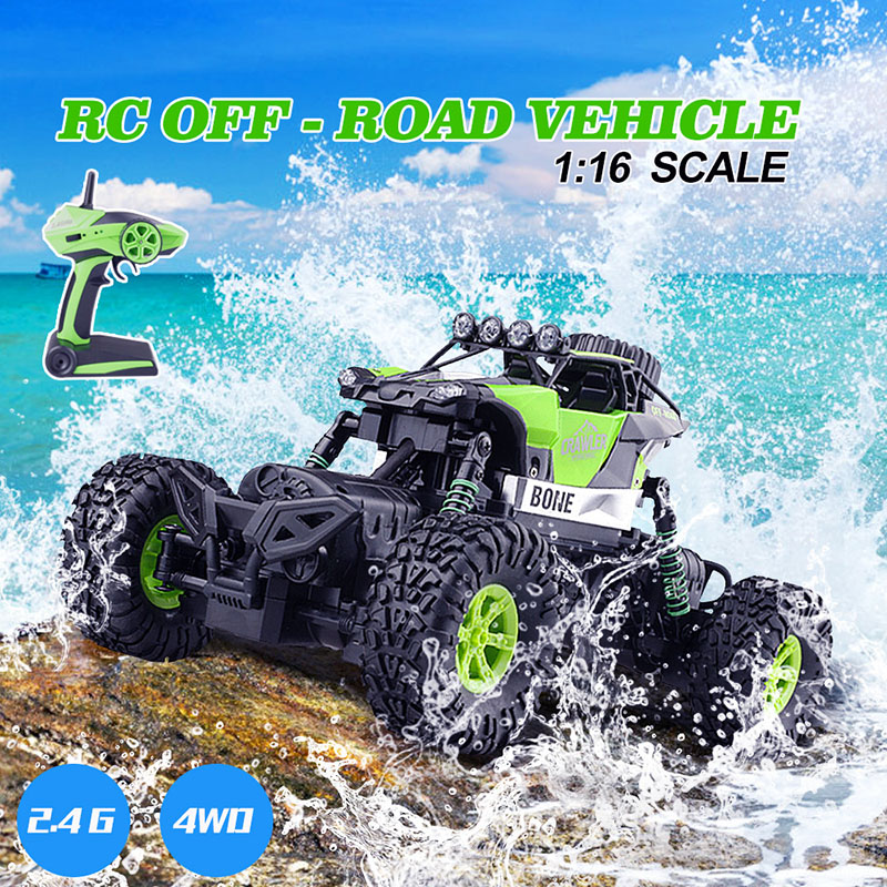 1/16 RC Car 2.4G Modelo Escala Rock Crawler Rally Car 4WD Coche Doble Motores Drive Truck Control Remoto Off Road Rc Juguetes Regalos