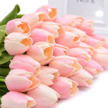 10pcs/lot Tulip Artificial Flower PU Bouquet Real Touch Flowers for Home Wedding Decorative Decoration