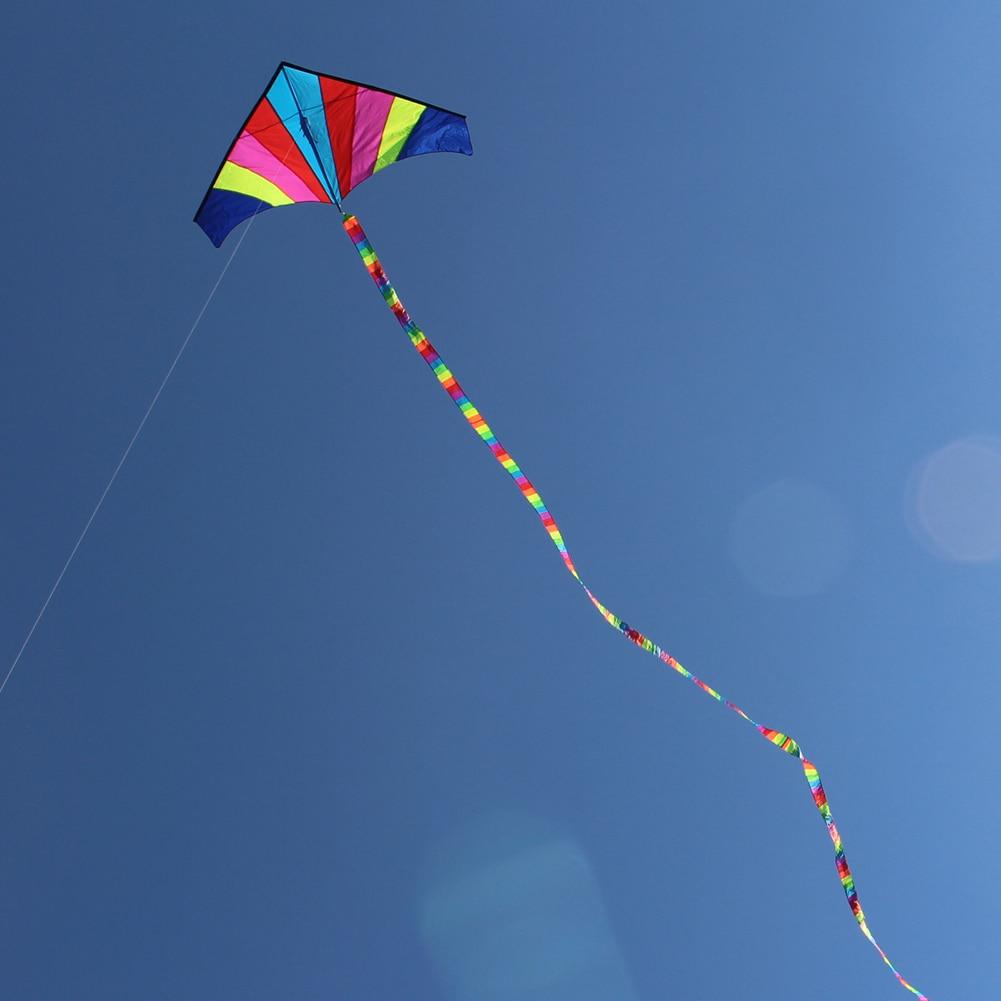 10 Meters Rainbow Bar Kite Tail For Delta Kite Stunt Kite Kids Kite Accessories Toys Colorful Children Outdoor Fun Sports Toys