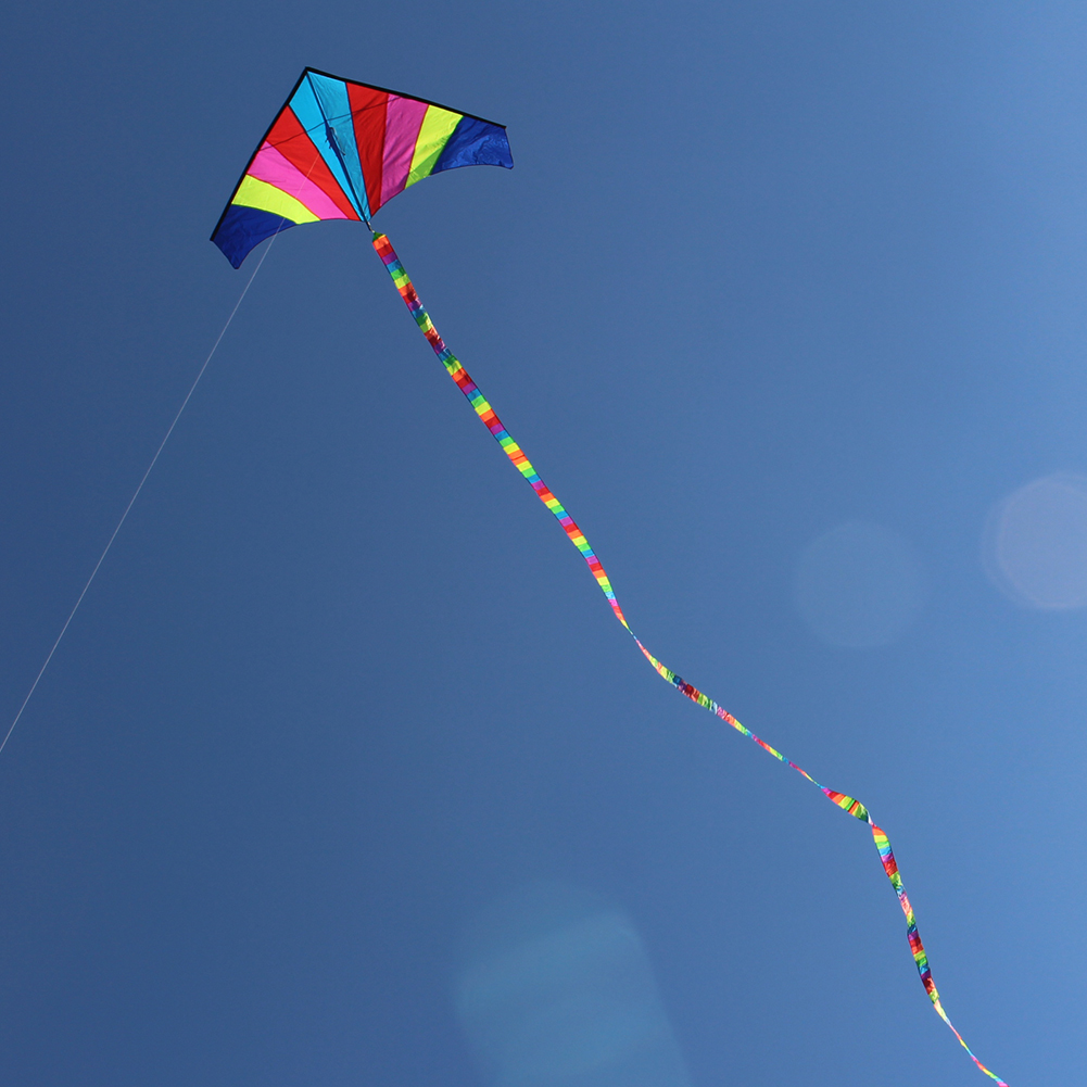 10 Meters Rainbow Bar Kite Tail for Delta Kite Stunt Kite Kids Kite Accessories Toys Colorful Children Outdoor Fun Sports Toys image