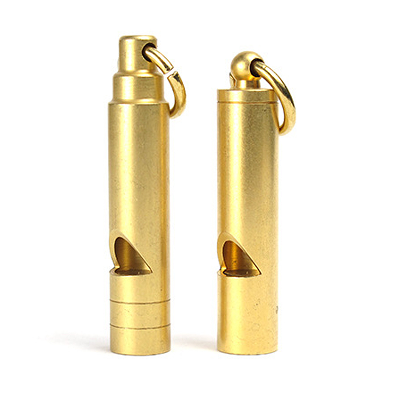 H921 Retro Brass Whistle Whisper Outdoors Surge Trainer Referee Whistle Key Chain Pendant Outdoor Equipment Whistle EDC