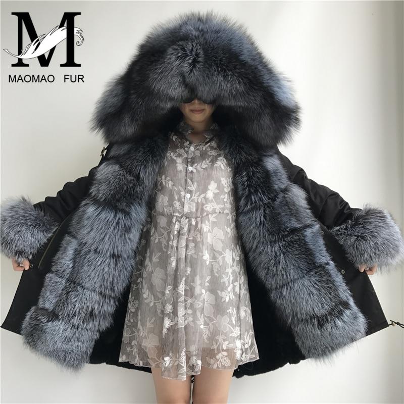 Épais Parkas Naturel Dames Fur Long Vraie Femmes Manteaux Réel Fur Parka De Hiver Manteau Veste Fourrure Silver Chaud red Vintage Fox Casual 8WFWqAaBg