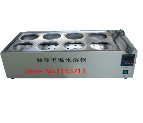 цены AOHUA Brand HH-8 water bath 8-holes double row bath pot digital thermostat water bath electric water bath Boiler