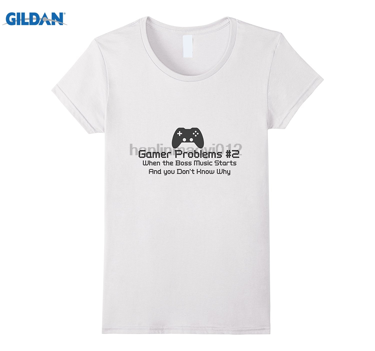 GILDAN Gamer Problems #2 Funny Gaming T-Shirt 100% cotton T-shirt glasses Womens T-shirt ...