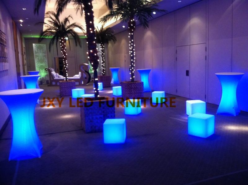 20cmx20cmx20cm Plastic Rgb Led Cube Chair And Table Light