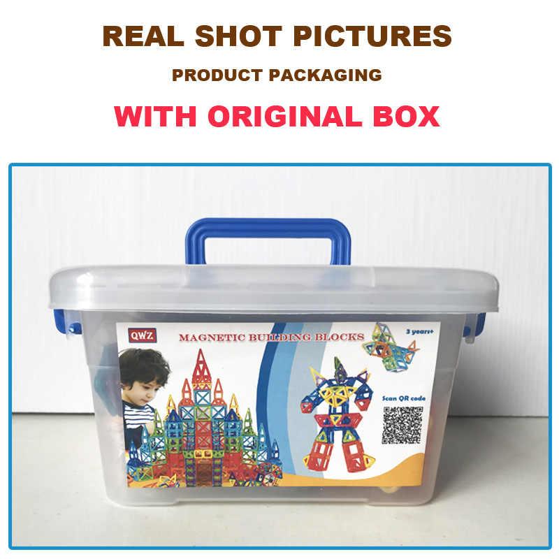 QWZ 110 шт. Мини Магнитный конструктор Строительный набор модель и строительство пластиковые магнитные блоки Развивающие игрушки для детей подарок